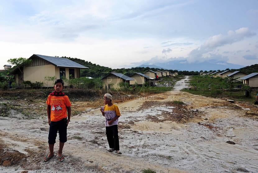 Kawasan pemukiman transmigrasi di Desa Sebunga, Kecamatan Sajingan Besar, Sambas, Kalimantan Barat.  (Republika/Edwin Dwi Putranto)
