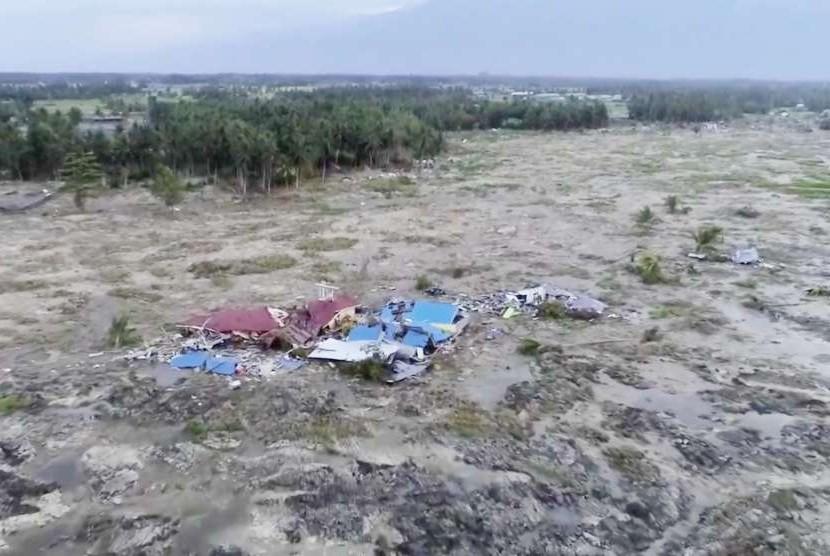 Kawasan Petobo menjadi salah satu daerah terparah terdampak gempa dan tsunami di Palu, Sulawesi Tengah.