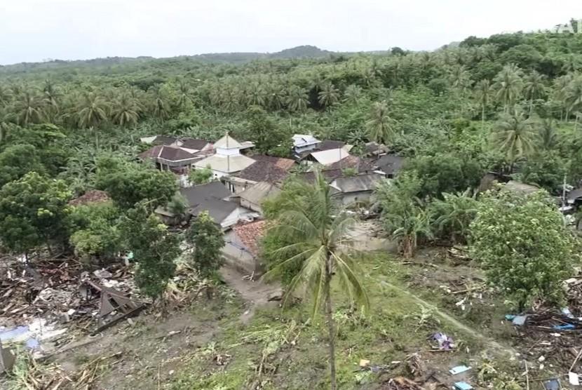 Kawasan Sumur, Banten pascabencana tsunami Selat Sunda.