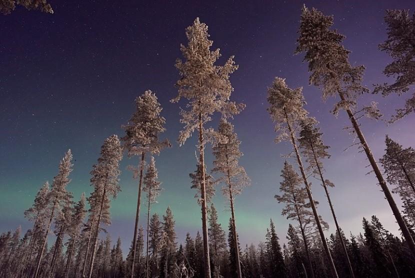 Kawasan wisata Lapland di Finladia.