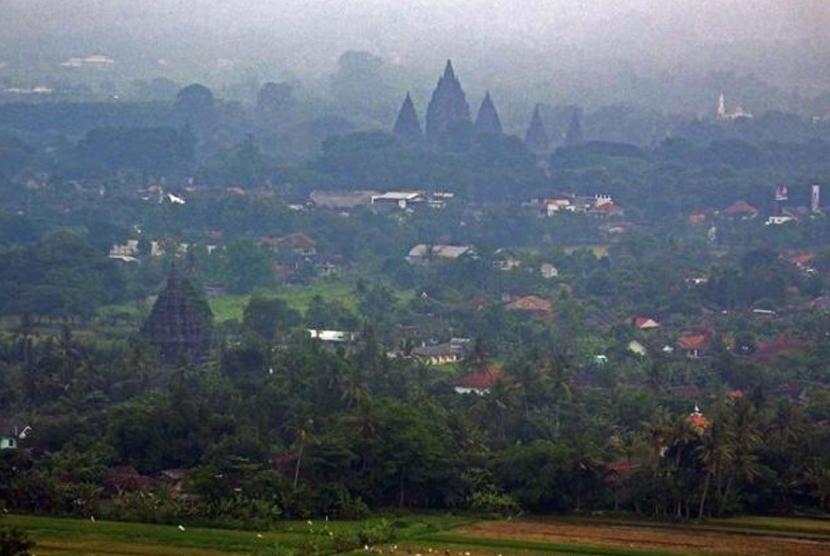 Kawasan wisata Sleman. Ilustrasi