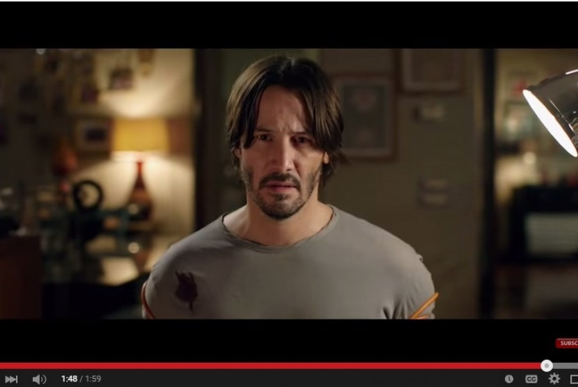 Keanu Reeves dalam trailer film 'Knock Knock'