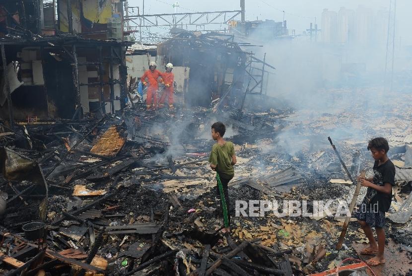 Kebakaran di Jakarta (ilustrasi)