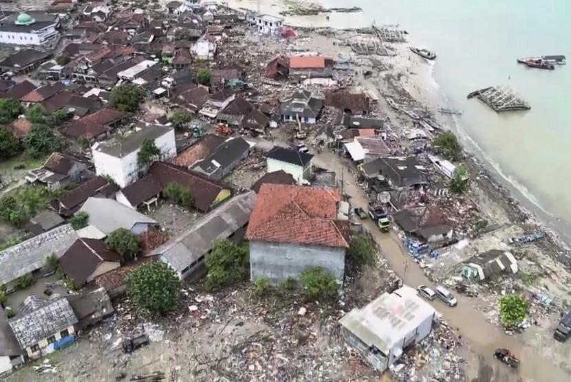 Kecamata Sumur yang terdampak bencana tsunami Selat Sunda