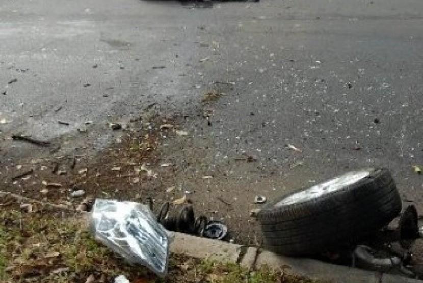 Kecelakaan lalu lintas. Ilustrasi
