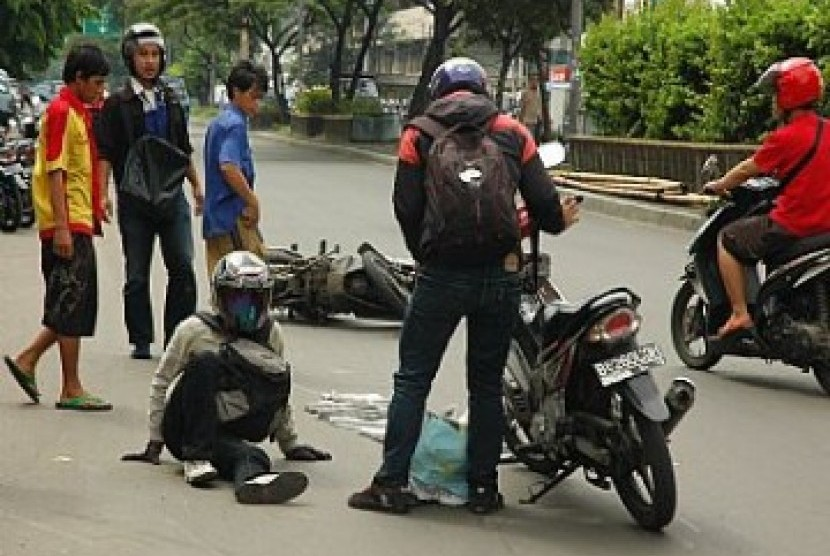 Kecelakaan motor, ilustrasi