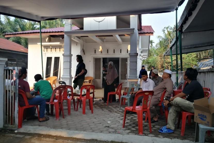 Kediaman Hj Rohana, ibunda Ustaz Somad di Kampung Silau Laut, Kabupaten Asahan, Sumatra Utara.