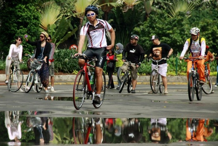 Kegiatan 'Car Free Day' dilmanfaatkan warga untuk bersepeda (ilustrasi)