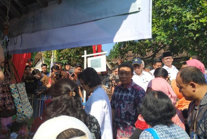 Kegiatan Sinergi Program Pemerintah Untuk Kesejahteraan Rakyat di Kampung Pojok, Desa Sindang Sari, Serang Banten, Jumat (15/3).