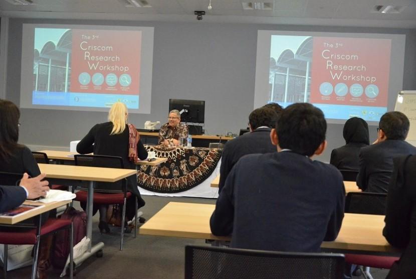 Kegiatan workshop yang digelar oleh Persatuan Pelajar Indonesia Cranfield dan Komunitas staf akademik dan pelajar Indonesia di Cranfield University, UK