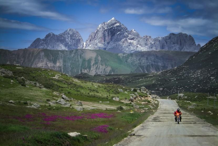 Keindahan alam Tibet.
