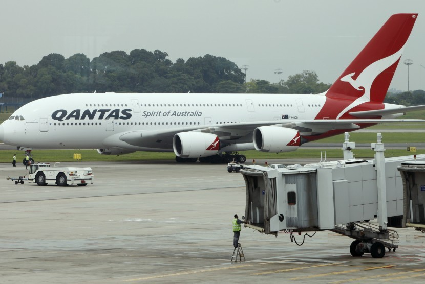 Pesawat Qantas.