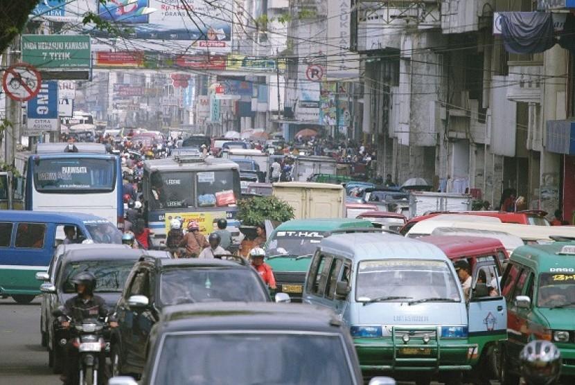 Kemacetan di Bandung (ilustrasi)