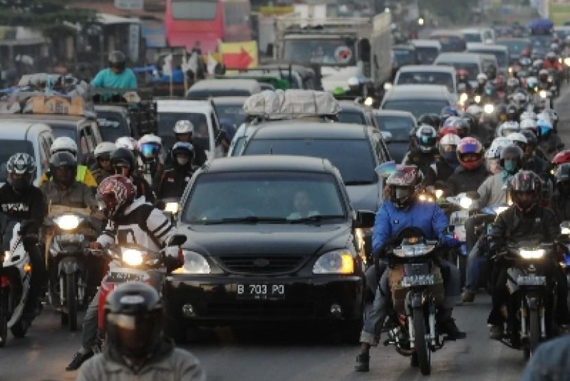Kemacetan di pantura (ilustrasi)
