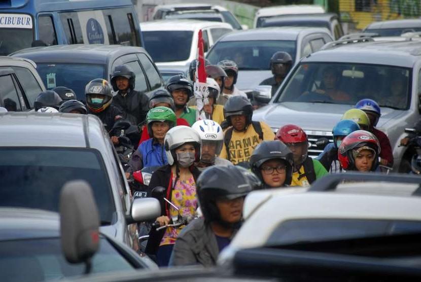 Kemacetan lalu lintas di Yogyakarta.