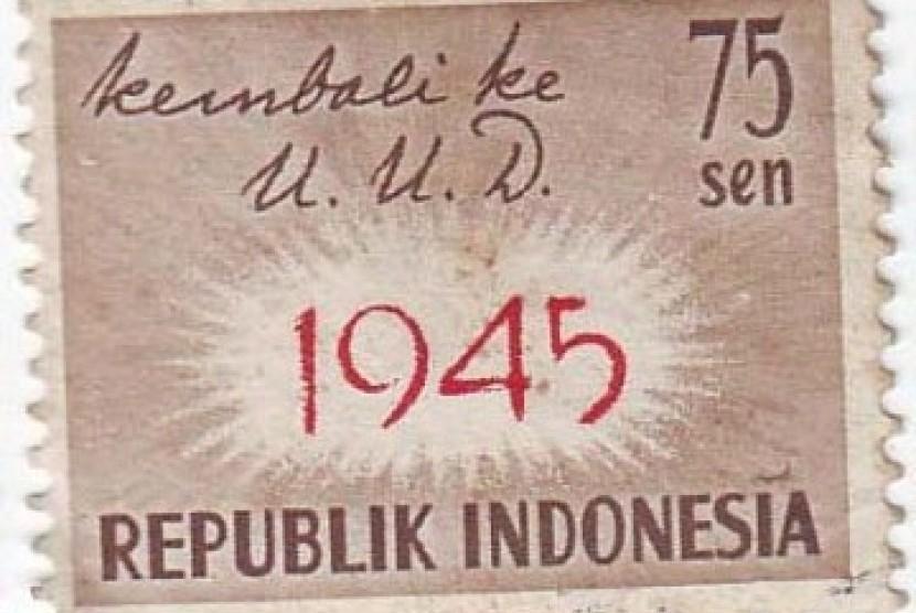 Perangko Kembali ke UUD 1945, Keren