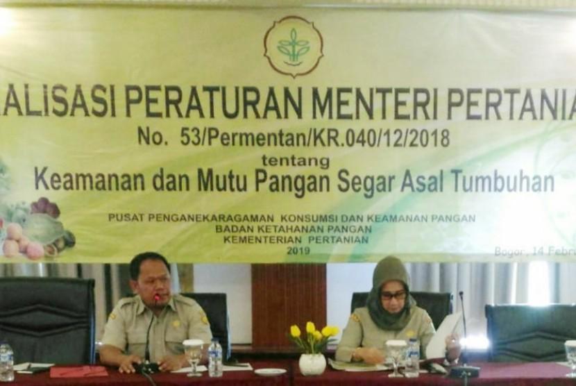 Kementan sosialisasi Peraturan Menteri Pertanian (Permentan) No. 53 tahun 2018 tentang Keamanan dan Mutu PSAT
