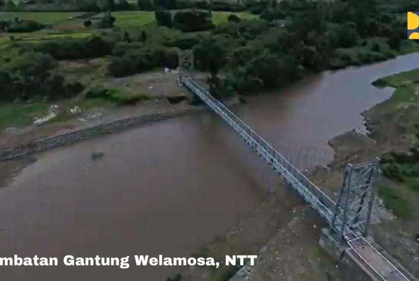 Kementerian PUPR bangun jembatan gantung Welamosa di NTT