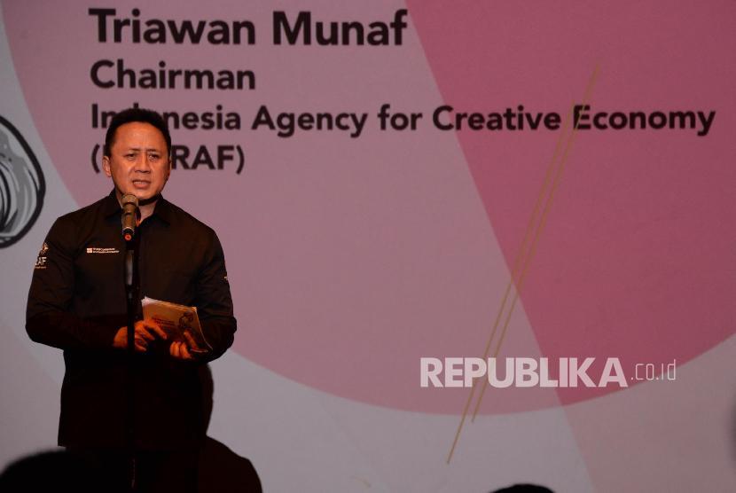 Kepala Badan Ekonomi Kratif (BEKRAF) Triawan Munaf