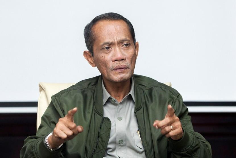 Kepala Badan Ketahanan Pangan (BKP) Kementerian Pertanian (Kementan) Agung Hendriadi, mewakili Menteri Pertanian pada Diskusi Panel di Gedung Tri Brata Jakarta Selatan, Rabu (30/1).