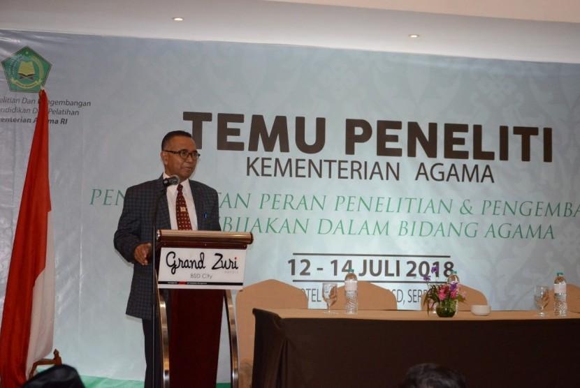 Kepala Badan Litbang dan Diklat Kemenag Prof Abdurrahman Mas'ud