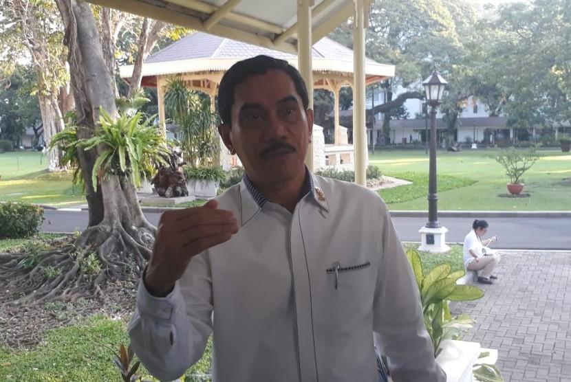 Kepala Badan Nasional Penanggulangan Terorisme, Suhardi Alius di Istana Negara, Selasa (22/5).