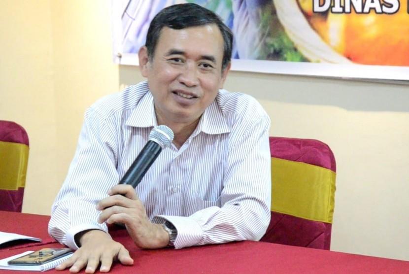 Kepala Balai Besar Biogenetik Kementerain Pertanian, Mastur dalam acara Pelatihan Teknologi Hasil Pertanian di Tanjung Selor, Kaltara, Rabu (28/11).