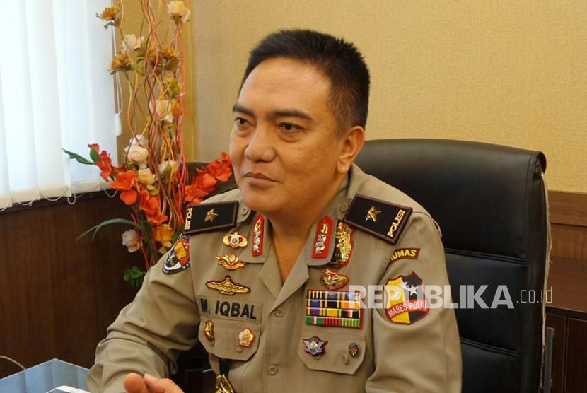 Kepala Biro Penerangan Masyarakat Polri Brigadir Jenderal Mohammad Iqbal di Kantornya. Selasa (26/12).