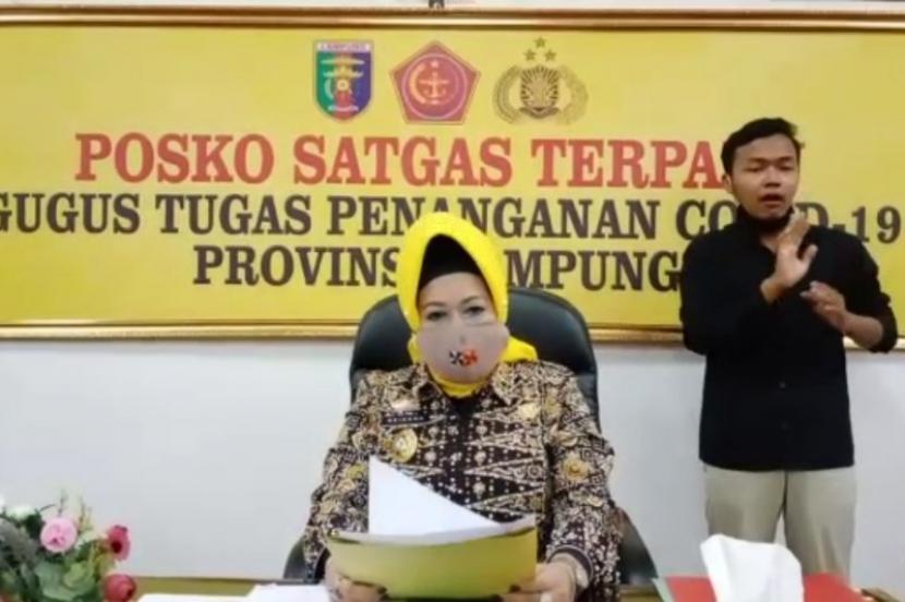 Kepala Dinas Kesehatan (Dinkes) Provinsi Lampung, Reihana.  Dinas Kesehatan (Dinkes) Lampung melaporkan telah terjadi penambahan kasus terkonfirmasi positif Covid-19 di provinsi itu sebanyak 62 orang.
