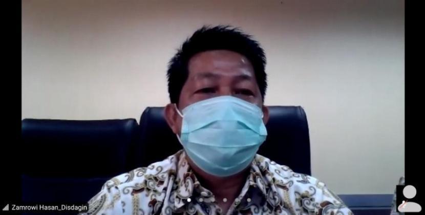 Kepala Dinas Perdagangan dan Perindustrian (Disperdagin) Kota Depok, Zamrowi.