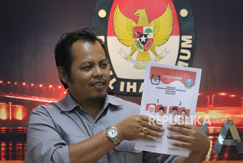 Ketua Komisi Pemilihan Umum (KPU) Jatim, Choirul Anam.