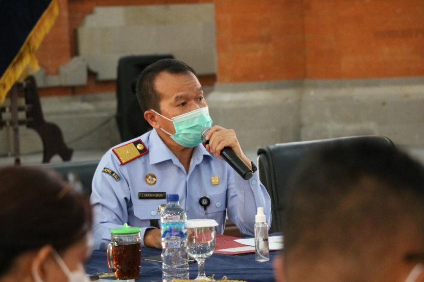 Kepala Kantor Kementerian Hukum dan HAM (Kemenkumham) Wilayah Bali, Jamaruli Manihuruk.