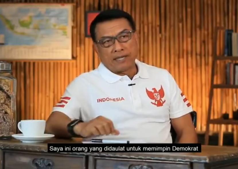 Kepala KSP Moeldoko menyampaikan pernyataan terkait penunjukkan dirinya sebagai ketua umum Partai Demokrat versi KLB Deli Serdang.