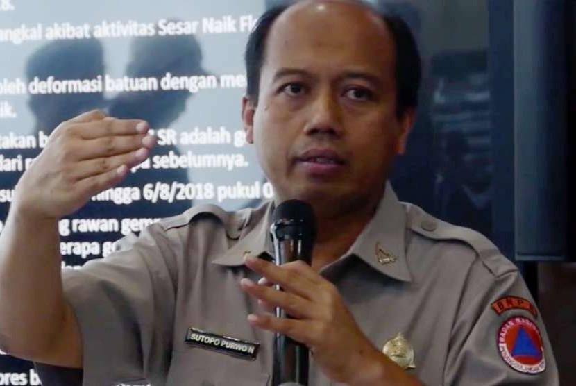 Kepala Pusat Data Informasi dan Humas Badan Nasional Penanggulangan Bencana, Sutopo Purwo Nugroho