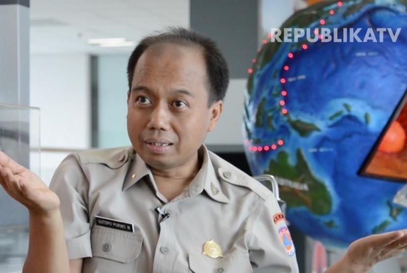 Kepala Pusat Data Informasi dan Humas (Pusdatinmas) Badan Nasional Penanggulangan Bencana (BNPB), Almarhum, Sutopo Purwo Nugroho