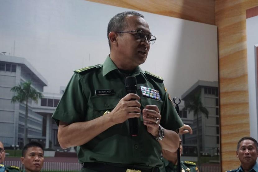 Kepala Pusat Penerangan TNI, Mayor Jenderal Sisriadi, di Balai Media TNI, Jakarta Pusat, Rabu (6/2).
