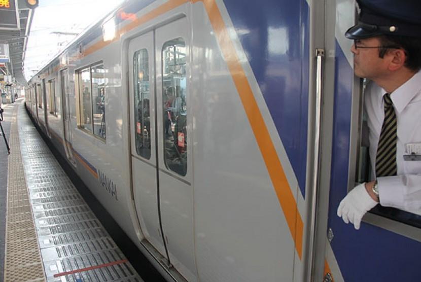 Kereta cepat Jepang. (Ilustrasi)