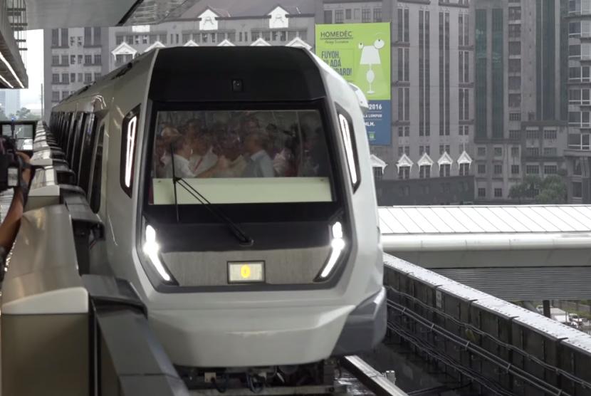 Kereta MRT di Malaysia. (ilustrasi)