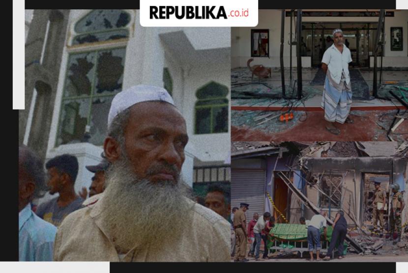 Kerusuhan anti-Muslim di Sri Lanka.