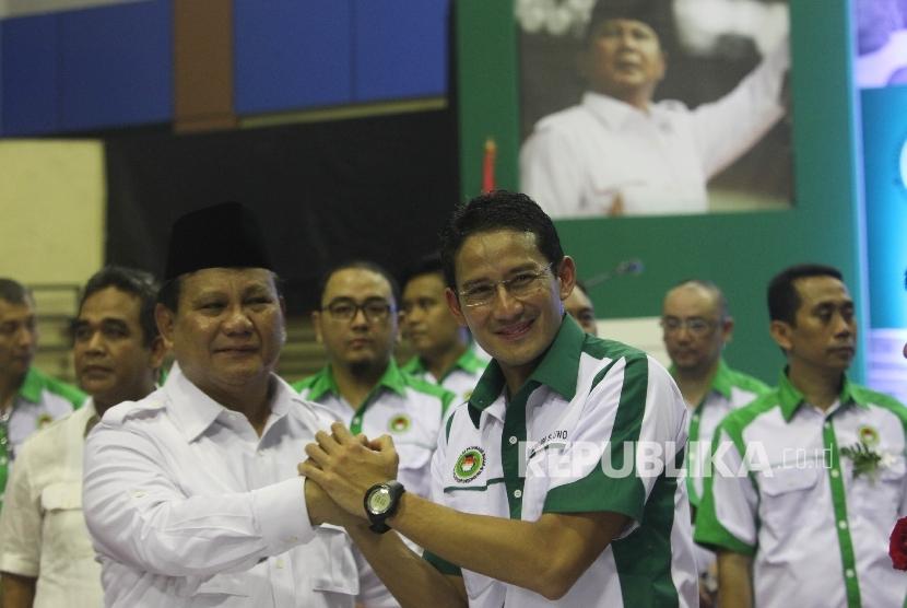 Momen kebersamaan Prabowo-Sandiaga Uno