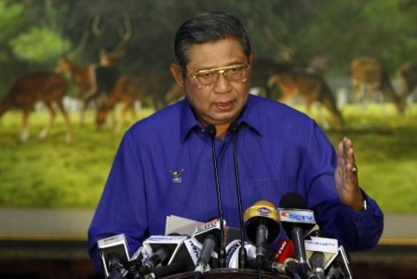 Ketua Dewan Pembina Partai Demokrat yang juga Ketua Majelis Tinggi Partai Demokrat Susilo Bambang Yudhoyono