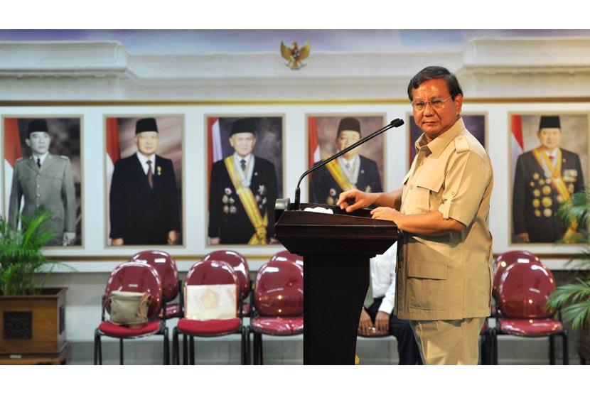 Ketua Dewan Pembina Partai Gerindra, Prabowo Subianto .