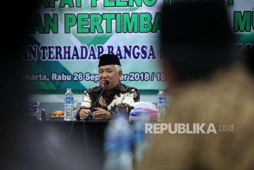 Ketua Dewan Pertimbangan Majelis Ulama Indonesia Din Syamsuddin
