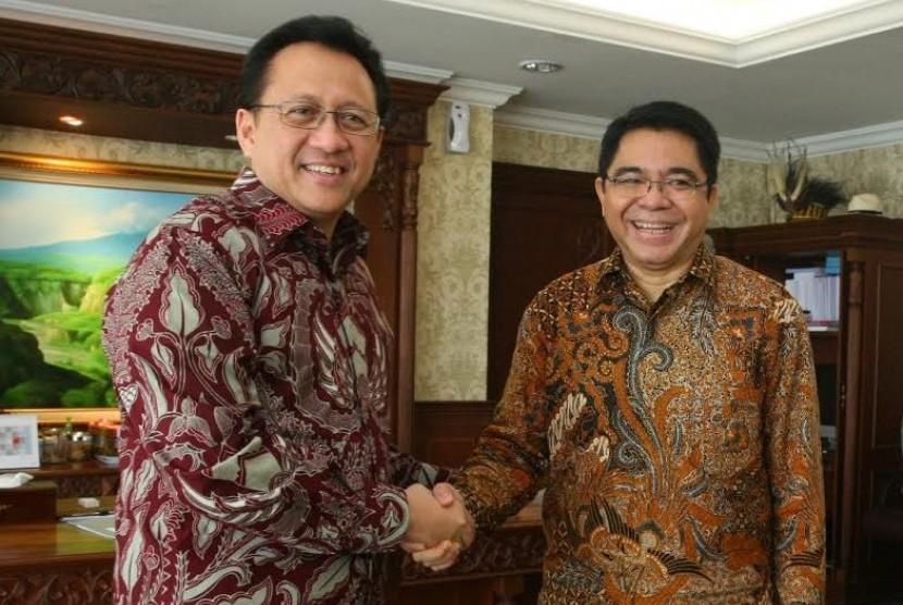 Ketua DPD Irman Gusman dan Ketua BKPM Franky Sibarani