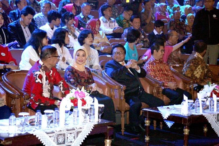 Ketua DPD RI Oesman Sapta menghadiri Ulang tahun TVRI ke-55, di auditorium TVRI, Sabtu (26/8).