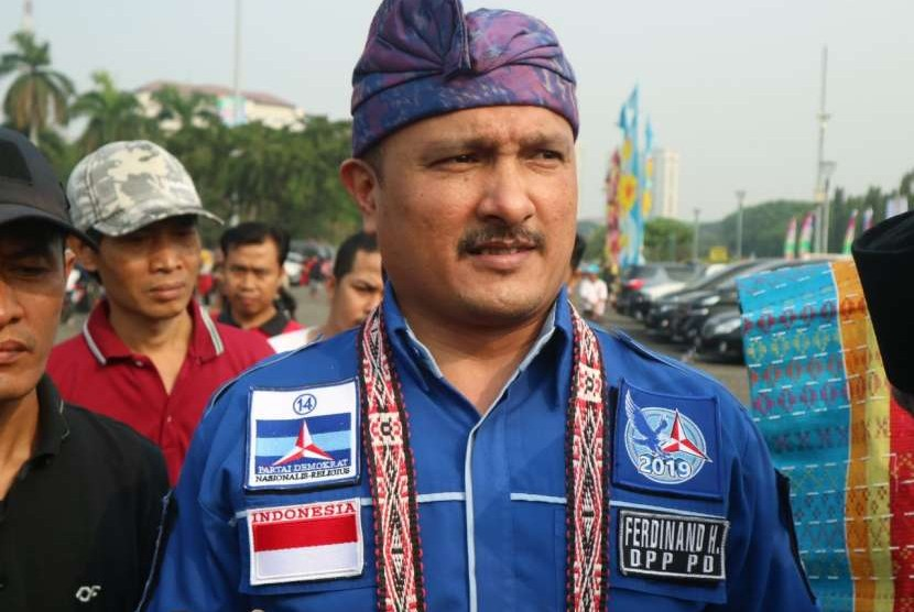 Ferdinand Hutahaean, a member of the Advocacy and Law Directorate of the National Winning Agency (BPN) of presidential candidate pair number 02