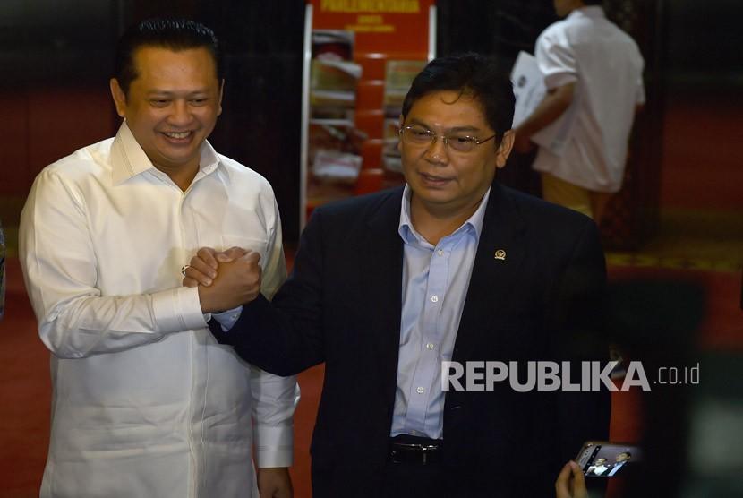 Ketua DPR Bambang Soesatyo bersama Wakil Ketua DPR RI Utut Adianto.