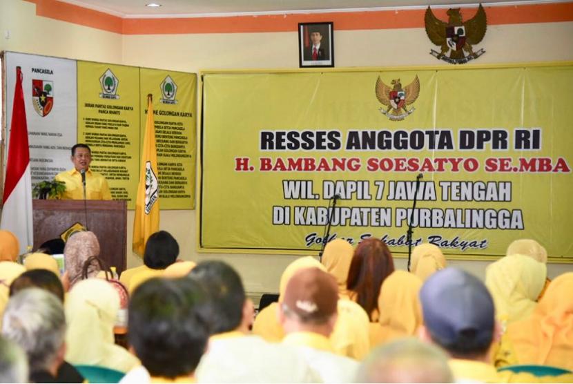Ketua DPR Bambang Soesatyo saat Reses di Kabupaten Purbalingga.