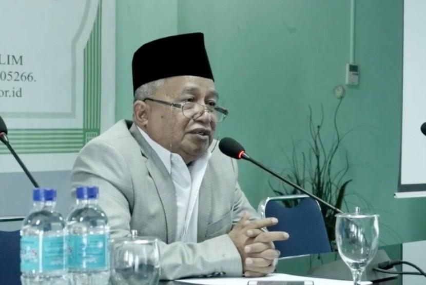 Ketua Majelis Ulama Indonesia Muhyiddin Junaidi