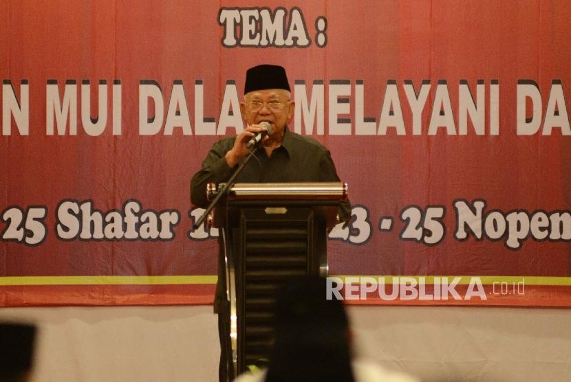Ketua Majelis Ulama Indonesia (MUI) Ma'ruf Amin
